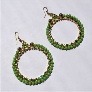 Jewelry - Key Lime crystals w/ jade stones & gold tone. NWOT